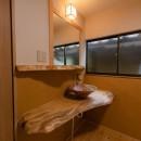 木のぬくもりのある暮らしの写真 造作洗面スペース