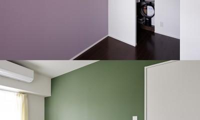 予算内で抑えたい!中古物件購入+リノベーション (壁の色でお部屋を一新)
