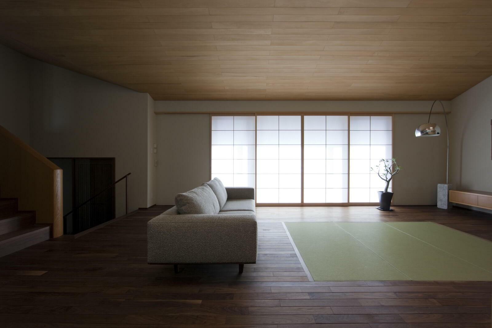 リビングダイニング事例:居間2(九条の家)