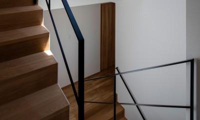 平岸の家 KWH (階段1)