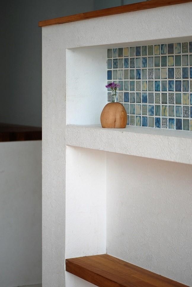 キッチン事例:タイルニッチ(つなぐ家)