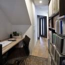 エアコンが苦手な奥様に 一年を通して温度変化の少ない家の写真 コンパクトな書斎