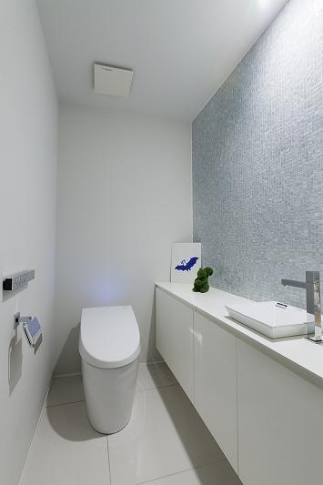 ホテルライクなモダン空間(リノベーション)の部屋 トイレ