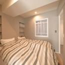 #ふたり暮らしの写真 室内窓を設置した寝室