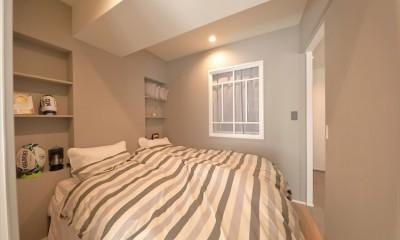 室内窓を設置した寝室 #ふたり暮らし