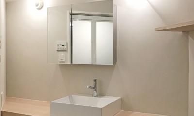 お気に入りを素敵に飾る空間 (洗面室)