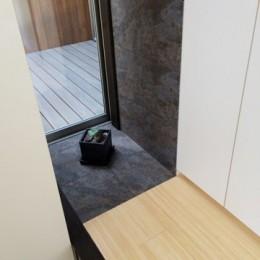 【帰ったらまず、手洗い、うがい】ドクターの家づくり計画に学ぶ (玄関周り01)