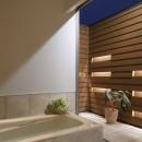 【帰ったらまず、手洗い、うがい】ドクターの家づくり計画に学ぶの写真 オープンエアなバスルーム