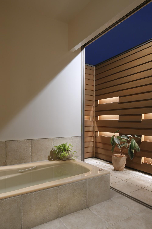 リビングダイニング事例:オープンエアなバスルーム(【帰ったらまず、手洗い、うがい】ドクターの家づくり計画に学ぶ)