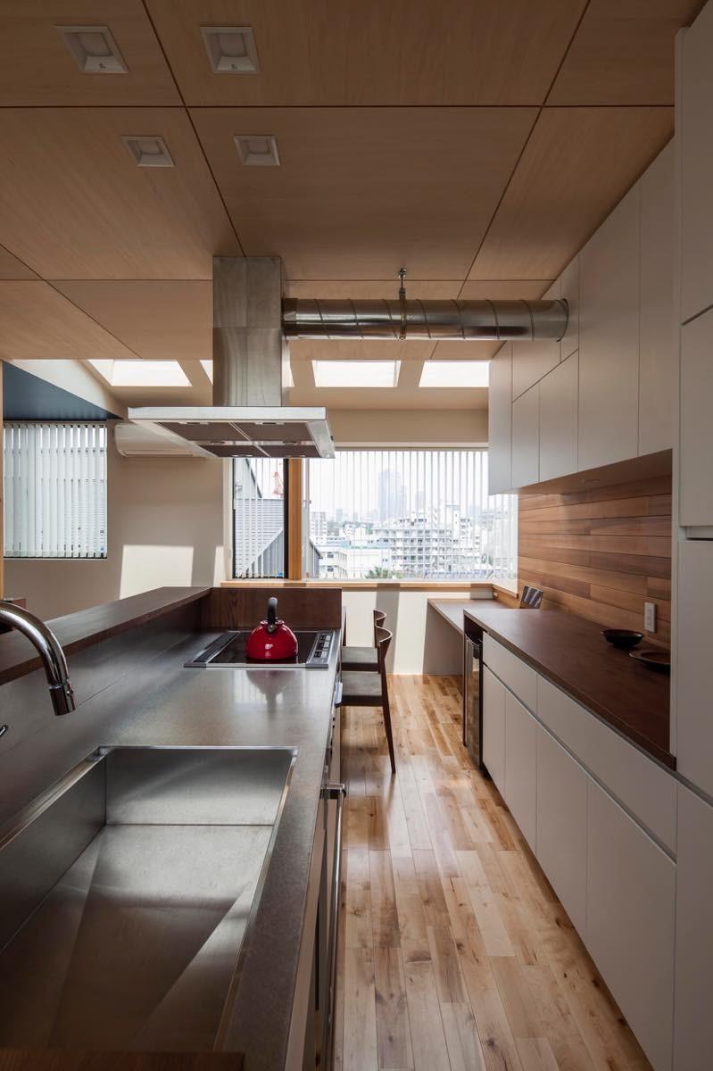 キッチン事例:内観22(白金の家)