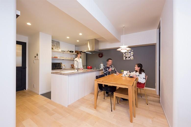 キッチン事例:奥様のこだわりがいっぱいのキッチン(親子のこだわり満載。「好き」と「素敵」が溢れるリノベーション)