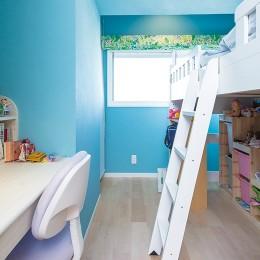 お嬢様のセンスに満ちた子供室 (親子のこだわり満載。「好き」と「素敵」が溢れるリノベーション)