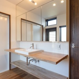中島・滑津のリノベーション (洗面室)