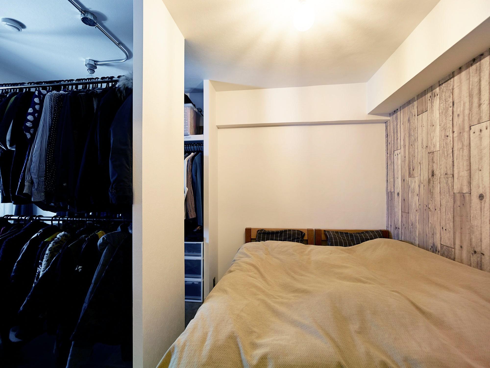 ベッドルーム事例:寝室&WIC(家族の笑顔が集まる賑やかハウス)