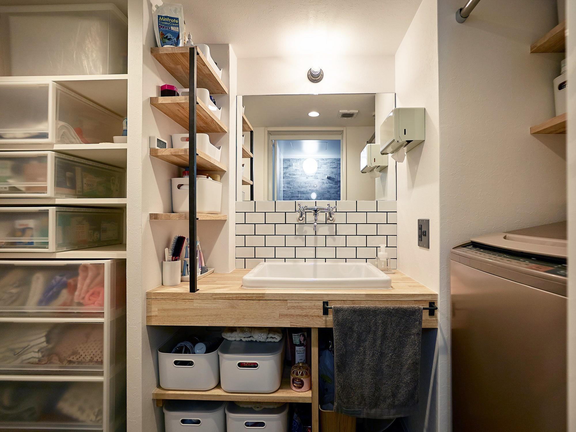 バス/トイレ事例:洗面(家族の笑顔が集まる賑やかハウス)