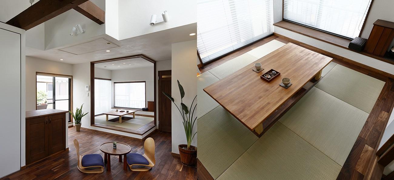 その他事例:くつろぎの和室スペース(桜を眺める家 心地よい暮らしを目指して)