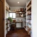 桜を眺める家 心地よい暮らしを目指しての写真 アンティーク感漂う書斎