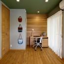 桜を眺める家 心地よい暮らしを目指しての写真 ログハウスを思わせる個室