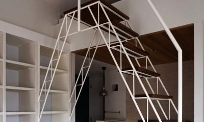 ロフトへのトラス階段をつくる計画