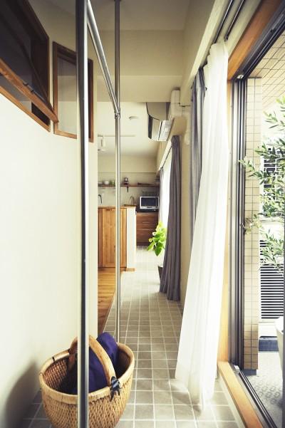 室内干しできるインナーテラスのある住まい (安心の室内干し)