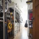 室内干しできるインナーテラスのある住まいの写真 たっぷり収納できる納戸スペース