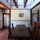 湖西の弁柄の住まいの写真 食堂