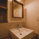 小技が光るきれいめマリンの写真 洗面室