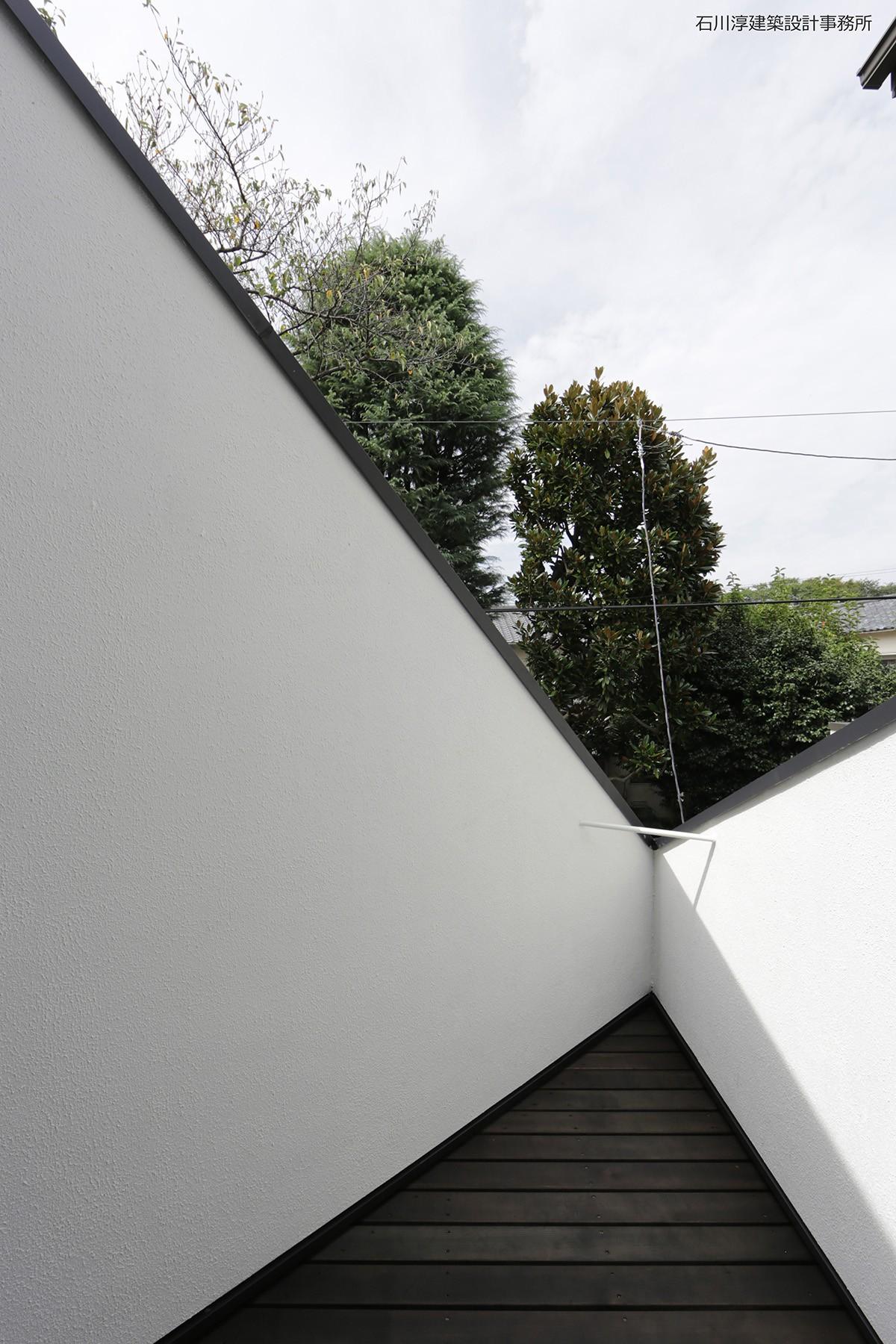 アウトドア事例:ベランダからの眺め(杉並 ちいさな仕事室のある家)