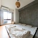 見知らぬ、天井の写真 ベッドルーム