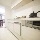 モダンな和室のある3LDKの写真 キッチン