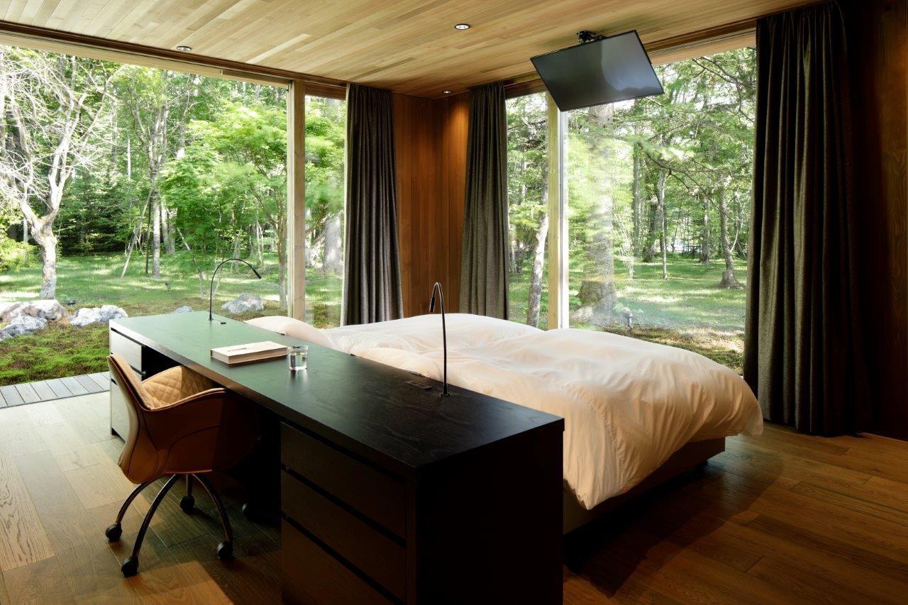 ベッドルーム事例:ベッドルーム(A山荘)