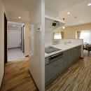 老後に「備える」住まいづくりの写真 オープンタイプのキッチン