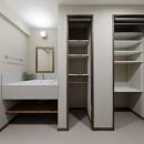 老後に「備える」住まいづくりの写真 シンプルで使いやすい洗面室