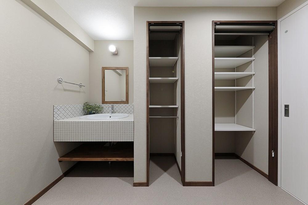 バス/トイレ事例:シンプルで使いやすい洗面室(老後に「備える」住まいづくり)
