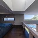 『青海の家』 風景と住む。~伊勢湾を臨む~の写真 ロフトから伊勢湾を臨む・ダイニング上の窓と並ぶ