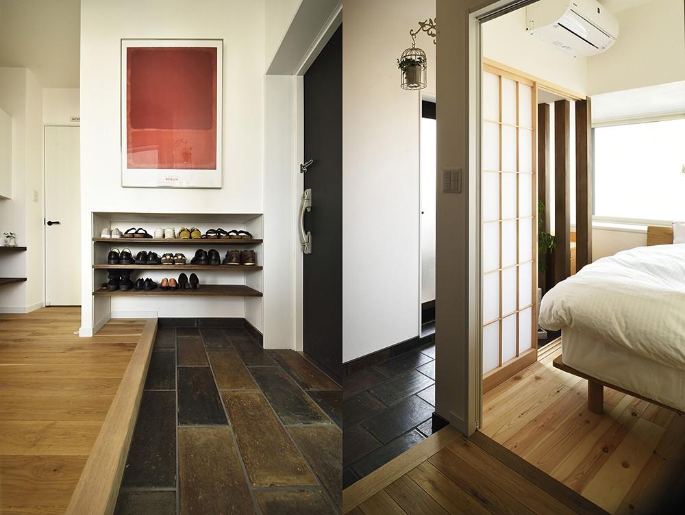 玄関事例:結露対策を施した玄関ホール(狭さはアイデアで解消!すっきりおしゃれな住まい)