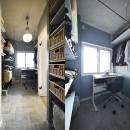 狭さはアイデアで解消!すっきりおしゃれな住まいの写真 W.I.C+脱衣室