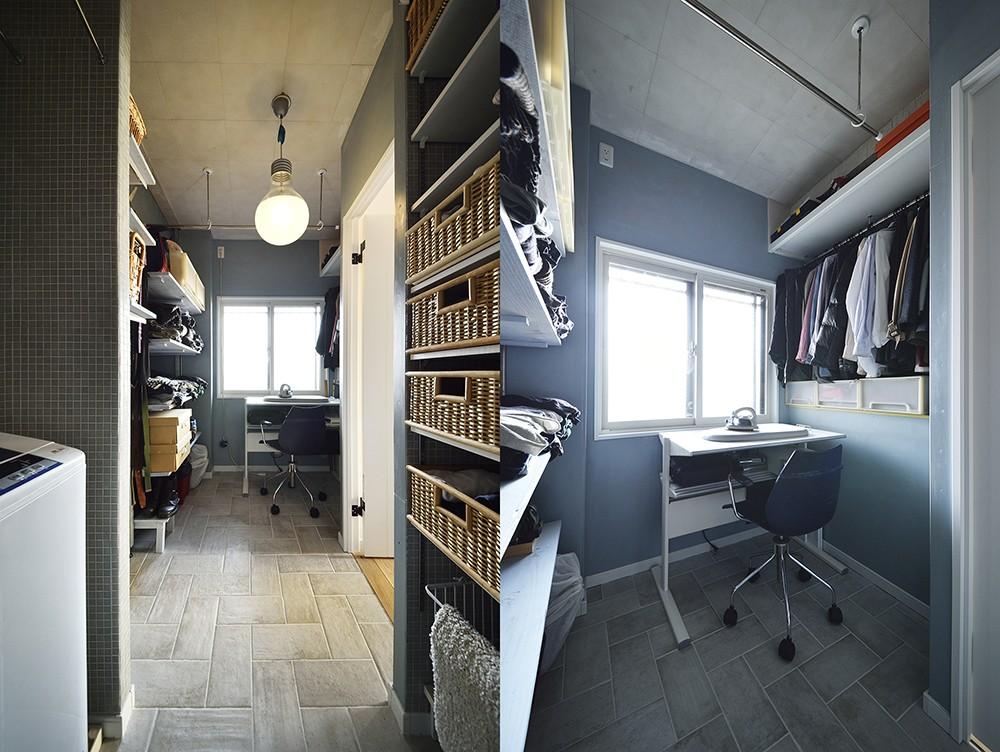 収納事例:W.I.C+脱衣室(狭さはアイデアで解消!すっきりおしゃれな住まい)