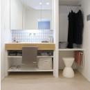 HYGGRE-駅近マンションで猫とルンバとスマートな毎日をの写真 洗面室