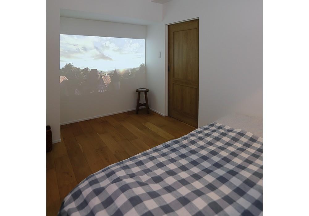 ベッドルーム事例:寝室(HYGGRE-駅近マンションで猫とルンバとスマートな毎日を)