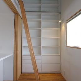 あざみ野南の住宅 / 一体空間の中に様々な居場所を設ける (書斎)
