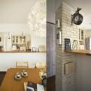 変えられない構造を活かす フレンチスタイルキッチンへの写真 ちょっぴりカフェスタイル
