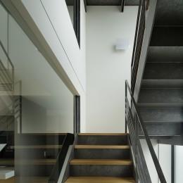 渋谷区I邸 / I House In Shibuya (階段)