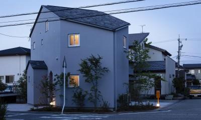 Dear House (外観、夕景)