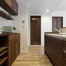 造り付け家具で室内一新の写真 オリジナル家具でお洒落なキッチン
