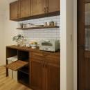 造り付け家具で室内一新の写真 機能性に優れたカウンター収納