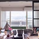 K邸-浅草から松本へ。自分らしい地方移住とは?の写真 アトリエからの眺め。目の前には高い建物はなく一望できる
