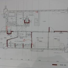 海と城を見ながら暮らす終の棲家・マンションリノベーション (2室から3室、収納部の共有)