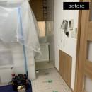 洗濯機置き場を作れない、コンパクトな脱衣室に洗濯機を置こう!の写真 施工前の様子