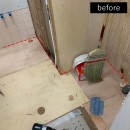 洗濯機置き場を作れない、コンパクトな脱衣室に洗濯機を置こう!の写真 洗面所側のリフォーム途中